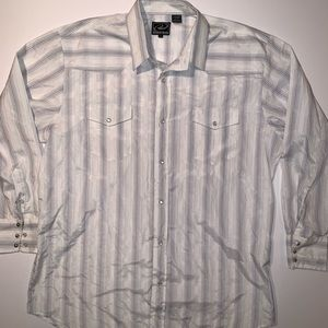 Double Pocket Pearl Snap Shirt XXL